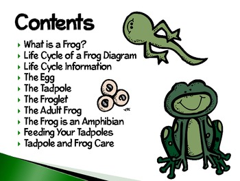 Frogs ~ An Interactive PowerPoint Presentation of their Life Cycle