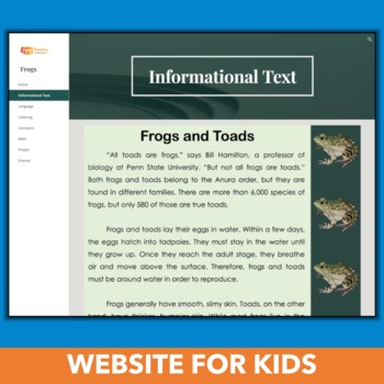 Frogs Chromebook Activities (Website + PDF or Google Response Sheets)