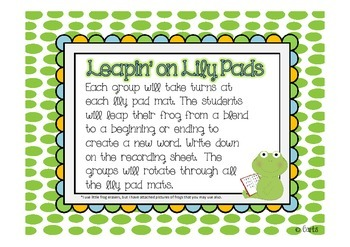 Frogs - Blends and Other Literacy Activities