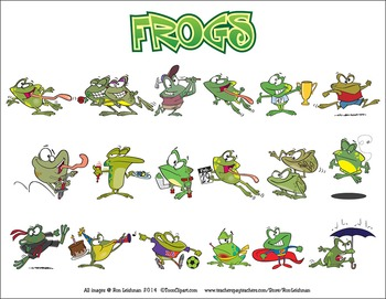 Frogs Cartoon Clipart