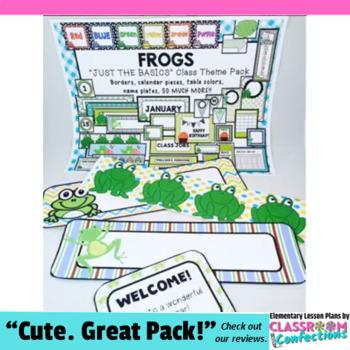 Frogs Classroom Decor: Frogs Theme Class Decor
