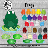 Frogs Clip Art Set for printable and digital resources