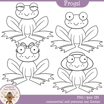 Frogs! Clipart Set
