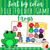 Frogs Color Matching File Folder Game
