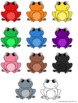 Frogs Color Matching File Folder Game - SPANISH