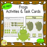 Frogs Count and Clip Task Cards