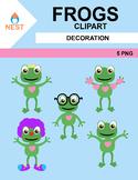 Frogs Digital Clip Art