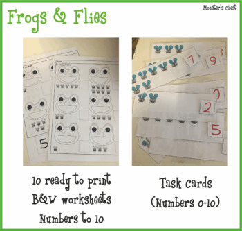 Frogs & Flies Unit. Spring Math Center. PreK, K and Sped. 4 resources in 1