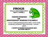 Frogs Foldable Scott Foresman Reading Street Grade 2