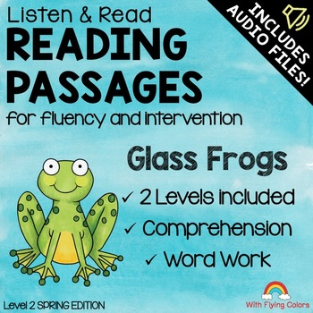 Spring Reading Passages for Intervention with Comprehension and Audio (Frogs)