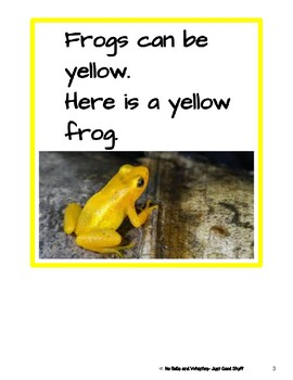Frogs- Informational Text (level 3-4)