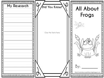 Frogs Interactive Brochure, Writing, Research & Technology
