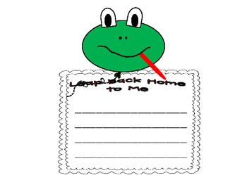Frogs: Leap Back Home to Me Writing and Craftivity