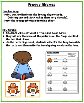 Frogs Literacy and Math Mini Unit