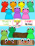 Frogs & Logs Clipart