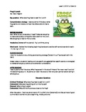 Frog's Lunch Guided Reading Lesson Plan - Level F
