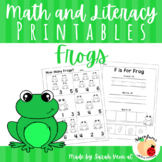 Frogs - Math Printables
