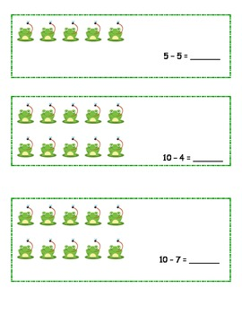 Frogs Math and Literacy Centers