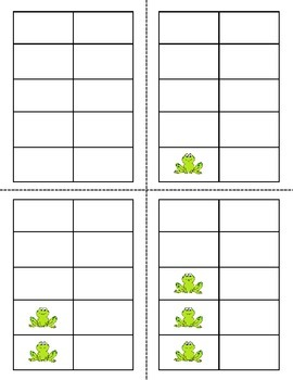 Frogs and Bears Number Cards 1-20