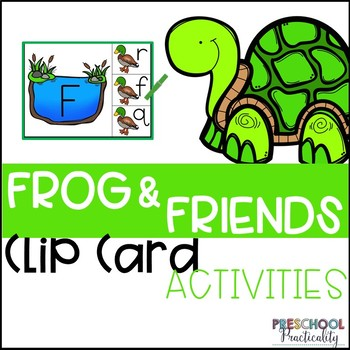 Frogs Pond Life Clip Card Activities for Toddlers, Preschool, and PreK