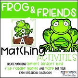 Frogs Pond Life Matching Activities for Toddlers, Preschoo