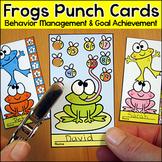 Frog Theme Punch Cards - Behavior Management & Goal Achievement