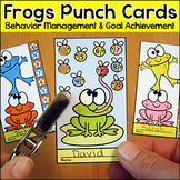 Frog Theme Goal Setting & Behavior Tracking Punch Cards