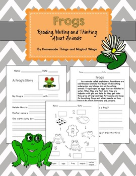 Frogs: Reading, Writing and Thinking about Animals
