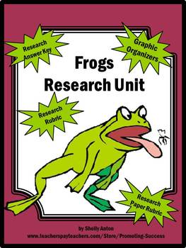Frogs Research Packet for Spring or Summer Writing Activities