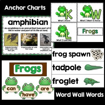 Frogs Unit: PowerPoint and Printables, Non-Fiction, Life Cycle