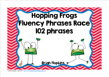 Frogs Sight Word Fluency Phrases Race