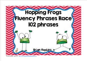 Frogs Sight Word Fluency Phrases Race