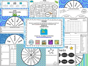 Frogs Spelling and Vocabulary Games