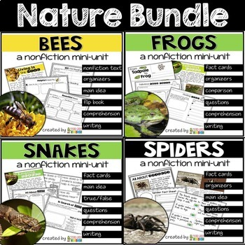 Frogs, Spiders, Snakes, Bees Nature Bundle