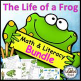 Frog Life Cycle Math and Literacy Activities Bundle, Frog Unit
