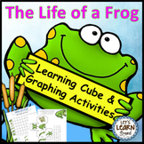 Frogs Life Cycle Math, Learning Cube, Roll, Graph and Count Activities