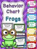 Frogs Theme Behavior Clip Chart