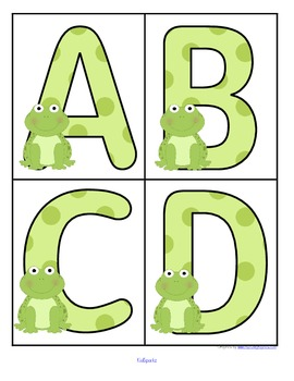 Frogs Alphabet - FREE