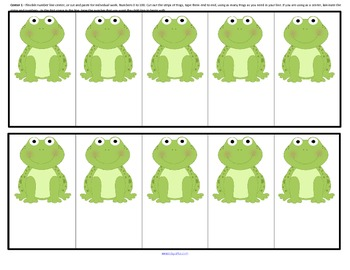 Frogs Number Sequence to 20 - 5 Centers