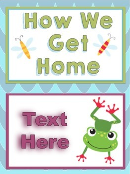 Frogs Themed Editable Go Home Signs