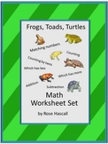 Frogs Toads Math Center Cut Paste Fine Motor Skills Special Education P-k K