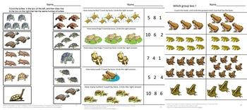 Frogs Toads Math Center Cut Paste Fine Motor Skills Special Education P-k K