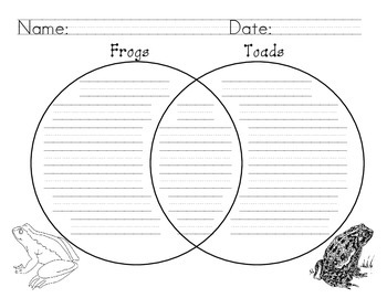 Frogs Toads Venn Diagram Compare Contrast By Leticia Gallegos