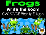 Frogs Write the Room - CVC/CVCE Words Edition