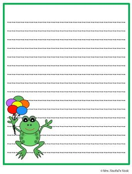 Writing Paper Frog