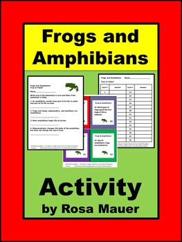 Frogs Science Task Cards
