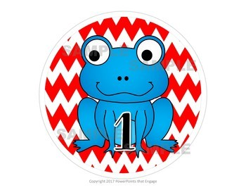Frogs and Chevrons Table Numbers