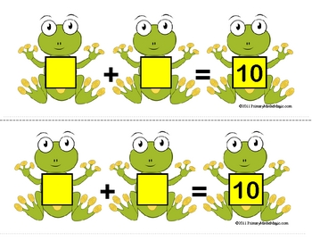 Frogs and Flies:  Addends of 10