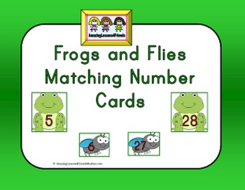 Frogs and Flies Munber matching Cards