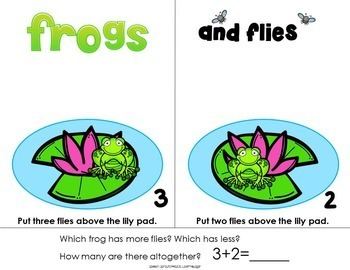Frogs and Flies Quantity Concepts  More, Less, Altogether